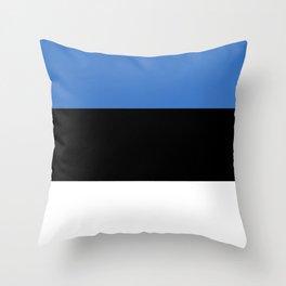 Flag of Estonia - Estonian,Eest,Baltic,Finnic,Sami, Skype,Arvo Part,Tallinn,Tartu, Narva,Snow, Cold Throw Pillow