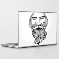 beard Laptop & iPad Skins featuring Beard  by Holly Harper