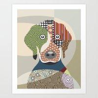 beagle Art Prints featuring Beagle by Lanre Studio