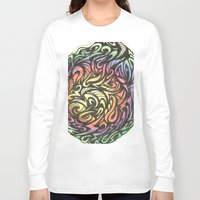 aztec Long Sleeve T-shirts featuring Aztec  by Kate Allison