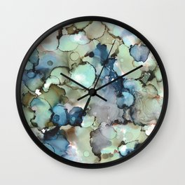 Alcohol Ink Sea Glass Wall Clock