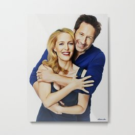 Gillian and David painting Metal Print