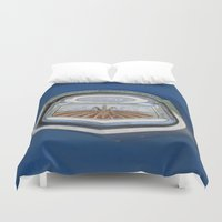 ford Duvet Covers featuring Vintage FORD Truck Badge by Andrea Jean Clausen - andreajeanco