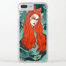 Poison Ivy - Supervillain illustration Clear iPhone Case