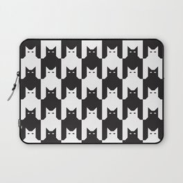Cats Dog Tooth Pattern Laptop Sleeve
