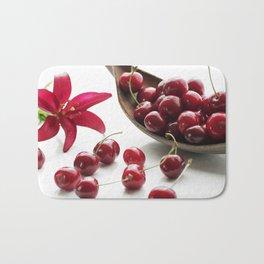 Fresh cherries straight from the tree Bath Mat