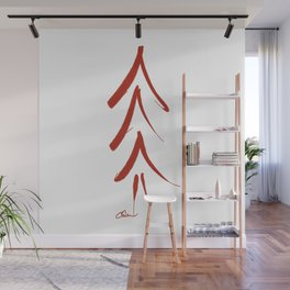 Mod Christmas Tree in Red DP150906a Wall Mural