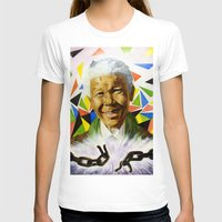 mandela T-shirts featuring Nelson Mandela by Bronsolo Illustration
