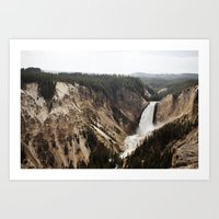 YELLOWSTONE WATERFALLSS Art Print