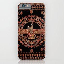 Farohar - Faravahar - Fravashi Marble and Gold iPhone Case