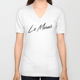 """Le Marais"" by Ashley Crawley Unisex V-Neck"