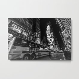 First time traveling in Times Square Metal Print