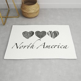 North American heart patterns Rug