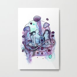 Jellyfishing a threesome Metal Print