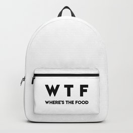 WTF Where's The Food Backpack