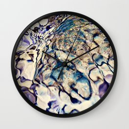 abstract stone and running water Wall Clock