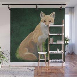 Playful Red Fox Wall Mural