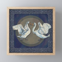 Celtic Swans Framed Mini Art Print