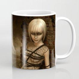Sad Gothic Girl awaiting the storm Coffee Mug