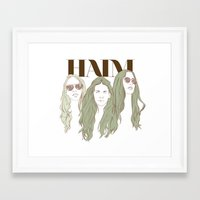 haim Framed Art Prints featuring HAIM by chazstity