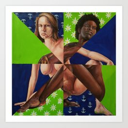 Quilted Nude 1 Art Print