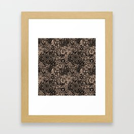Bronze nude with black lace Framed Art Print