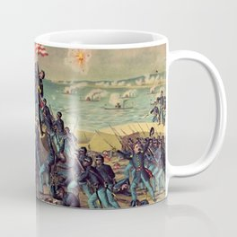 African American Civil War Troops Storming Fort Wagner Landscape Coffee Mug