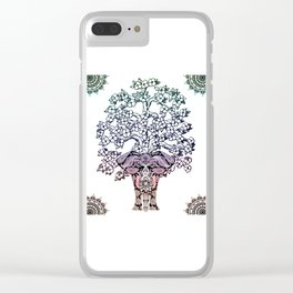 Indian Elephant Tree Of Life Clear iPhone Case