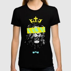 King of The Jungle. Womens Fitted Tee Black SMALL