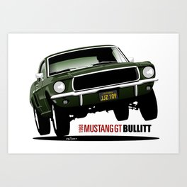 Ford Mustang Fastback GT 1968 from Bullitt Art Print