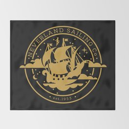 Neverland Sailing Co. Throw Blanket