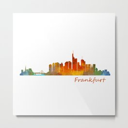 Frankfurt am Main, City Skyline, Citiscae art watercolor V1 Metal Print