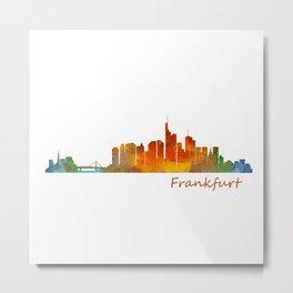 Frankfurt am Main, City Skyline, Citiscae art watercolor V1 Metal Print