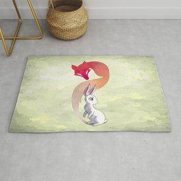 Rabbit and a Fox Rug