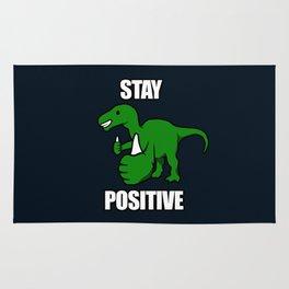Stay Positive Iguanodon Rug