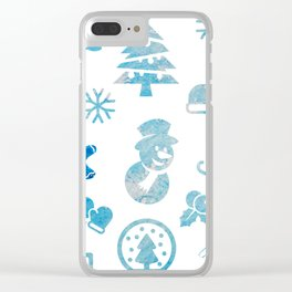 Winter Theme Clear iPhone Case