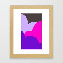 Purple Space Framed Art Print