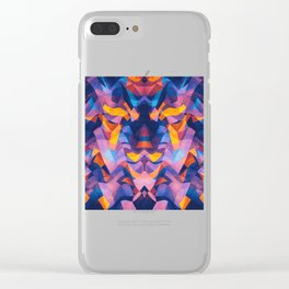 Abstract symertric ge Clear iPhone Case