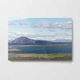 Iceland morning seascape Metal Print