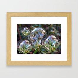 Flower bubbles Framed Art Print