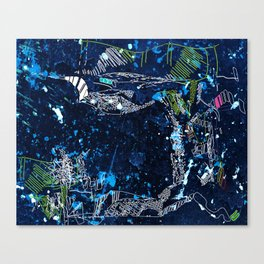 the tree over the blue Canvas Print