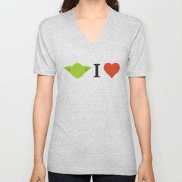 Yoda I Love Unisex V-Neck