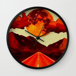 Red Road. Wall Clock