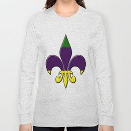 Fleur de lis ...purple, green and gold Long Sleeve T-shirt