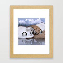 | Wild Food - Coconut and Penguins | Framed Art Print