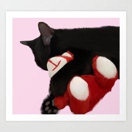 Kitten Hug Art Print