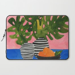 Pink Wall Monstera Laptop Sleeve