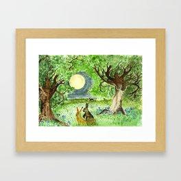 Hare Moon Framed Art Print