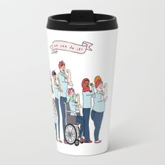 Intersectional Rosie the Riveter Travel Mug