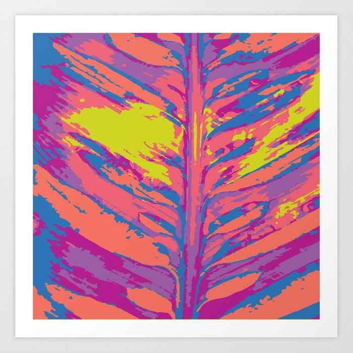 leafy coral Art Print